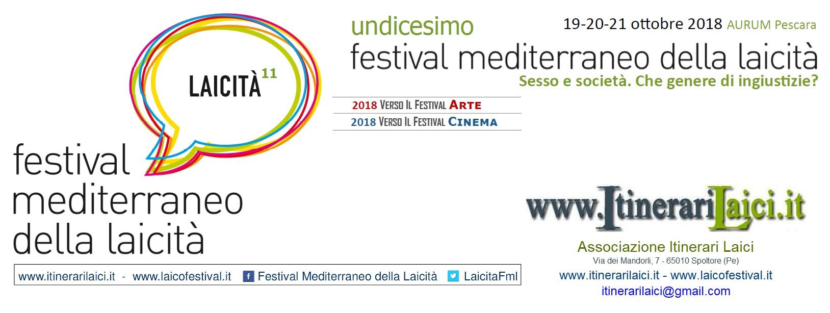 XI FML- Festival mediterraneo della laicità 2018