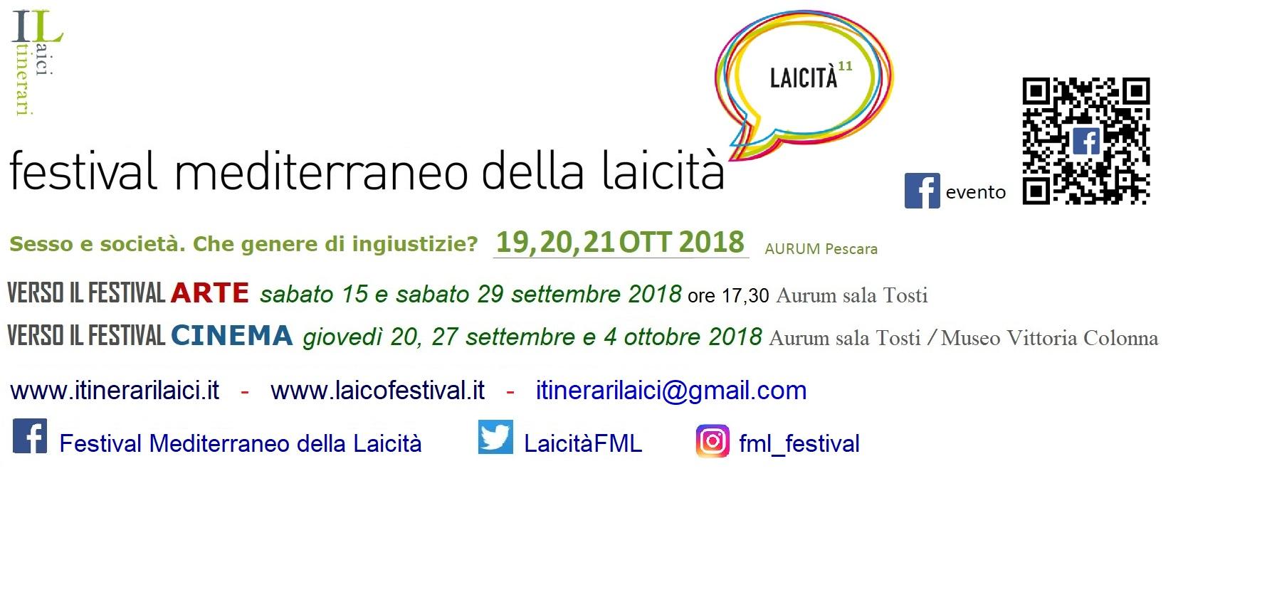 Al via la XI edizione del Festival mediterraneo della laicità